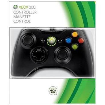 MICROSOFT XBOX 360 Controller Black, S9F-00002, herní příslušenství, drátový gamepad pro Xbox 360 černý
