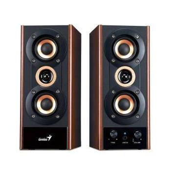 GENIUS SP-HF 800A, 31730997100, reproduktory, 2.0ch zvuk, dřevo, 20W, jack 3,5mm