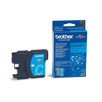 BROTHER LC-1100HYC, LC1100HYC, azurová (cyan), inkoustová náplň, 750 str