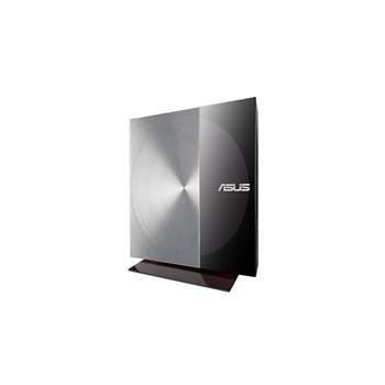 ASUS SDRW-08D3S-U/BLK/G/AS, 90-DQ0447-UA258KZ, černo-stříbrná, externí DVD vypalovačka, DVD-R 8x, DVD+R 8x, DVD-RW 6x, DVD+RW 8x, DVD-R9(DL) 6x, DVD+R9 (DL) 6x, DVD-RAM 5x, 24x CD, 8x DVD, CD-R 24x, CD-RW 24x