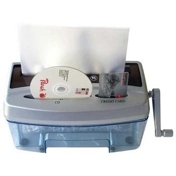 PEACH Cross Cut Hand Shredder PS300-21, PS300-21, skartovací stroj, částicový řez, 2 listy, skartace CD, stupeň utajení: 3, 3,6 l koš