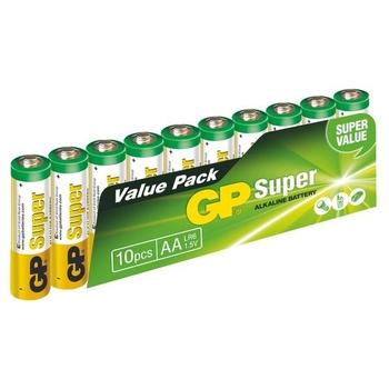GP Super Alkaline 10ks, 1013200102, baterie, AA, tužkové, 1,5V