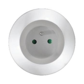 SOLIGHT WL94, SWL94, noční LED svítidlo s průběžnou zásuvkou, bílá barva světla