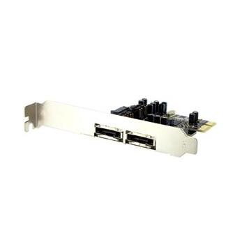 4WORLD PCI-Express SATA, 05721, řadič, PCI-Express x1, 2x SATA2, 2x eSATA, RAID 0, 1