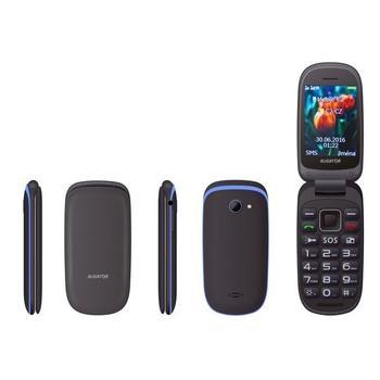 ALIGATOR V400 Senior, AV400BB, černo-modrý, mobilní telefon pro seniory, 240x320, microSD, BT, Dual SIM