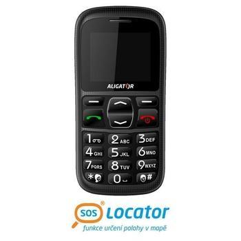 ALIGATOR A420, AZ04635, černá (black), mobilní telefon GSM, 128x160, microSD