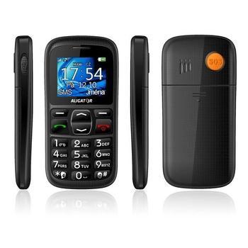 ALIGATOR A420 Senior, A420B, černý (black), mobilní telefon GSM, 128x160, microSD