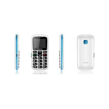 ALIGATOR A430 Senior, A430WB, bílo-modrý, mobilní telefon GSM, 128x160, microSD