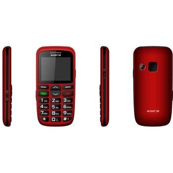 ALIGATOR A680 Senior + stolní nabíječka, A680R, červený (red), mobilní telefon, 176x220, microSD, BT