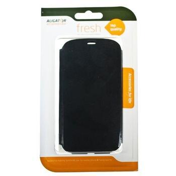 ALIGATOR FRESH BOOK pro Samsung GALAXY S4, blistr, PBOGALS4GR, šedé (grey), flipové pouzdro pro Samsung