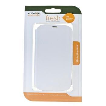 ALIGATOR FRESH BOOK pro Samsung GALAXY S4, blistr, PBOGALS4WE, bílé (white), flipové pouzdro pro Samsung