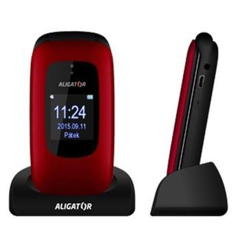 ALIGATOR V600 Senior, AV600RB, mobilní telefon pro seniory, microSD, Foto 1,3Mpx