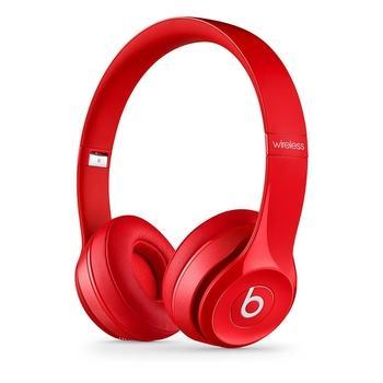 APPLE Beats Solo2 Wireless Headphones, MHNJ2ZM/A, červené (red), bezdrátová sluchátka, ovládání hlasitosti, bluetooth, skládací