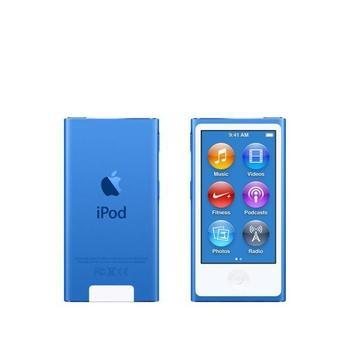 """APPLE iPod nano 16GB, MKN02HC/A, modrý (blue), MP3 přehrávač, 16GB, displej, 240x432px, 2,5"""", MP3, MP4, WAV, Apple Lossless, AAC, ID3, krokoměr, Jack 3,5mm, Lighting port, výdrž až 3"""
