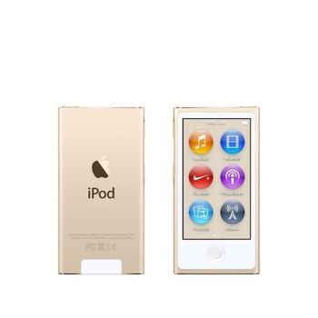 """APPLE iPod nano 16GB, MKMX2HC/A, zlatý (gold), MP3 přehrávač, 16GB, displej, 240x432px, 2,5"""", MP3, MP4, WAV, Apple Lossless, AAC, ID3, krokoměr, Jack 3,5mm, Lighting port, výdrž až 3"""