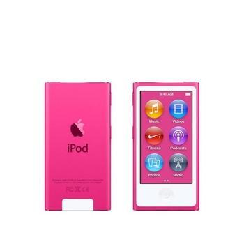 "APPLE iPod nano 16GB, MKMV2HC/A, růžový (pink), MP3 přehrávač, 16GB, displej, 240x432px, 2,5"", MP3, MP4, WAV, Apple Lossless, AAC, ID3, krokoměr, Jack 3,5mm, Lighting port, výdrž až 3"