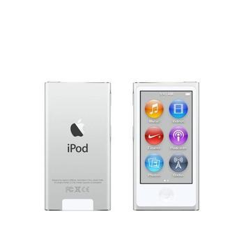 "APPLE iPod nano 16GB, MKN22HC/A, White & Silver, MP3 přehrávač, 16GB, displej, 240x432px, 2,5"", MP3, MP4, WAV, Apple Lossless, AAC, ID3, krokoměr, Jack 3,5mm, Lighting port, výdrž až 3"