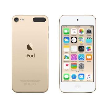 """APPLE iPod touch 16GB 2015, MKH02HC/A, zlatý (gold), MP3 přehrávač, 16GB, displej, 1136x640px, 4"""", MP3, WAV, ID3, záznamník, krokoměr, Jack 3,5mm, Lighting port, Wi-Fi, Bluetooth, výdrž až 40hod."""