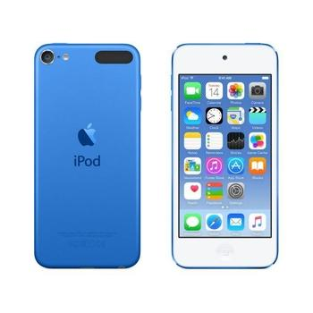 "APPLE iPod touch 64GB 2015, MKHE2HC/A, modrý (blue), MP3 přehrávač, 64GB, displej, 1136x640px, 4"", MP3, WAV, ID3, záznamník, krokoměr, Jack 3,5mm, Lighting port, Wi-Fi, Bluetooth, výdrž až 40hod."