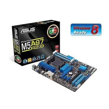 ASUS M5A97 R2.0, 90-MIBJK0-G0EAY0MZ, základní deska, socket AM3+, AMD 970/SB950, DDR3, 2x PCIe 2.0, RAID, GLAN, 6xUSB 2.0, 2xUSB 3.0, 8ch audio, ATX