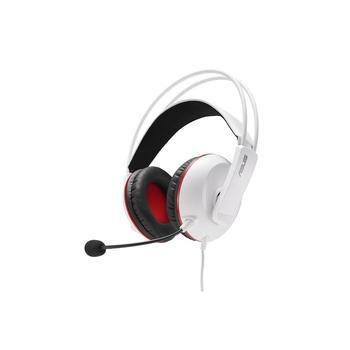 ASUS CERBERUS/ ARCTIC, 90YH0062-B1UA00, herní sluchátka, ovládání hlasitosti, odnímatelný mikrofon, jack 3,5mm, 32 Ohm