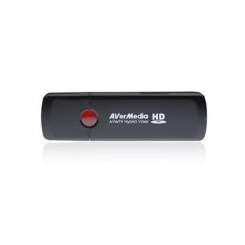 AVERMEDIA TV Hybrid Volar HD, 61H830HBF0AB, externí TV katra, USB, analogový TV tuner, FM tuner, DVB-T, HW MPEG-2 encoder, dálkový ovladač