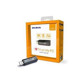 AVERMEDIA TV Volar HD, 61A835DV00AG, externí TV tuner, USB 2.0, DVB-T, HW MPEG-2 encoder