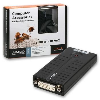 AXAGO ADG-HD, ADG-HD, video adaptér, redukce, USB 2.0, ->DVI (F)