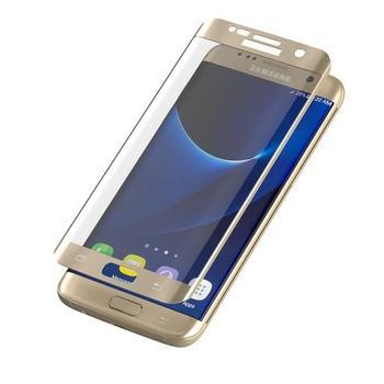 ZAGG InvisibleSHIELD Glass Contour pro Samsung Galaxy S7 Edge, , zlaté (gold), tvrzené ochranné sklo, tvrdost 9H, vysoká citlivost dotyku, nezanechává bubliny