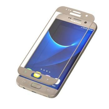 ZAGG InvisibleSHIELD Glass Contour pro Samsung Galaxy S7, , zlaté (gold), tvrzené ochranné sklo, tvrdost 9H, vysoká citlivost dotyku, nezanechává bubliny
