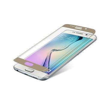 ZAGG InvisibleSHIELD Glass Contour pro Samsung Galaxy S6 Edge, , zlaté (gold), tvrzené ochranné sklo, tvrdost 9H, vysoká citlivost dotyku, nezanechává bubliny