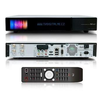 VUplus DUO2 DUAL+DVB-T/C, VU+DUO2 DUAL+DVB-T/C, přijímač DVB-S2 / T2, 3D, USB, 1x DVB-T2/T, LAN, 2x DVB-S2, čtečka pam. karet, YPbPr, S/PDIF optický, SCART, HDMI, Wi-Fi, CI slot, eSATA, Linux