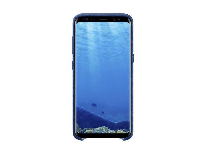 Pouzdro pro mobil SAMSUNG Alcantara pro Galaxy S8 modré (blue)  dd5b28273f1