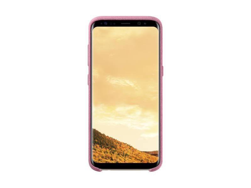Pouzdro pro mobil SAMSUNG Alcantara pro Galaxy S8 růžové (pink)  eee5f62029c