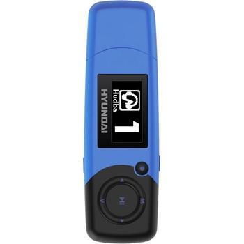 HYUNDAI MP 366 FM 4GB, , modrá (blue), přenosný MP3 přehrávač, 4GB, displej, MP3, WMA, záznamník, FM tuner, USB 2.0, výdrž až 17hod.