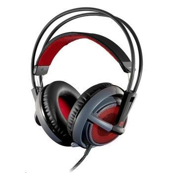 STEEL SERIES Siberia v2 Dota2 Edition, 51143, herní sluchátka, ovládání hlasitosti, s mikrofonem, USB, 32 Ohm