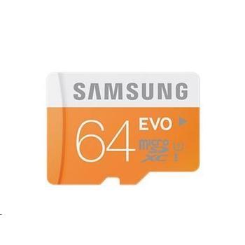 SAMSUNG micro SDXC 64GB EVO, MB-MP64D/EU, paměťová karta, Class 10