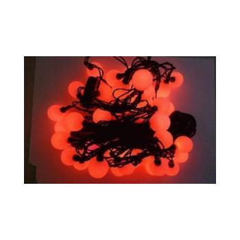 OEM 40LED - 4m koule 2,5cm, VS5202, červené (red), vánoční osvětlení