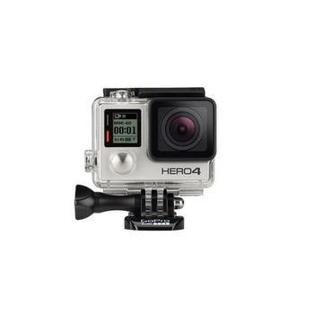 GOPRO HERO4 Silver Edition, CHDHY-401-S, digitální videokamera, Micro SD/SDHC/SDXC, HDMI, USB2.0, AV out, odolné provedení, voděodolná, dotykové ovládání