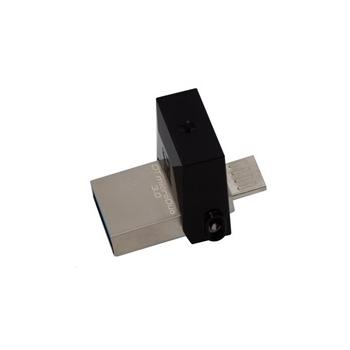 KINGSTON DataTraveler microDuo 32GB, DTDUO3/32GB, šedý (grey), přenosný flash disk, USB 3.0