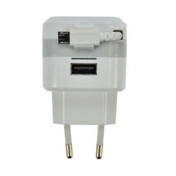 SOLID nabíječka SDC39 s navíjecím microUSB kabelem, SDC39, bílá (white), nabíjecí adaptér