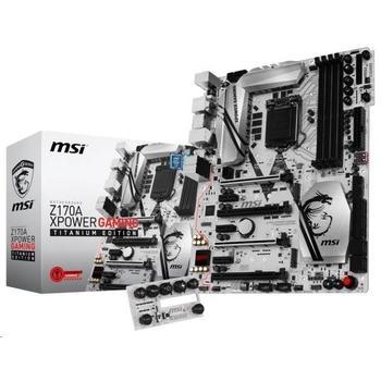 MSI Z170A XPOWER GAMING TITANIUM EDITION, Z170A XPOWER GAMING TITANIUM EDITION, základní deska, socket 1151, Intel Z170, DualCH. DDR4, 4x PCIe 4.0, RAID, GLAN, 3xUSB 2.0, 4x USB 3.1, 7ch audio, ATX