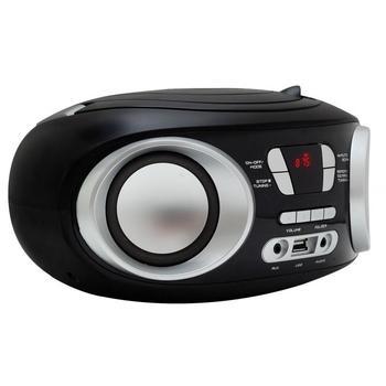 MANTA Boombox MM209NCD, , radiomagnetofon, CD, MP3, FM rádio, USB, možnost napájení na baterie