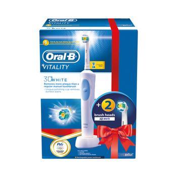 BRAUN Oral-B Vitality 3DWhite D12.513 + EB 18-2 3D White Luxe, , el. zubní kartáček