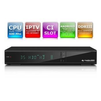 AB CryptoBox 650HD, AB CR650HD, satelitní přijímač, USB, LAN, DVB-S2, SCART, HDMI, CI slot