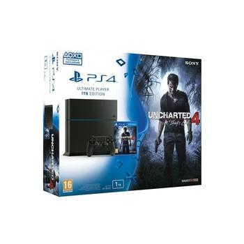 SONY Playstation 4 1TB + Uncharted 4: Thiefs End, PS719802655, herní konzole