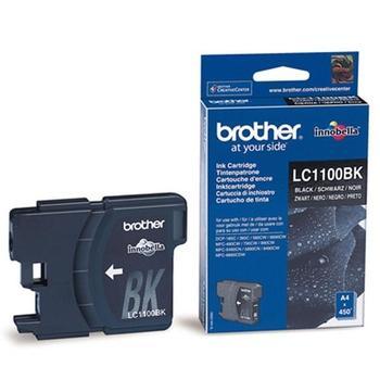 BROTHER LC-1100HYBK, LC1100HYBk, černý (black), inkoustová náplň, 900 str