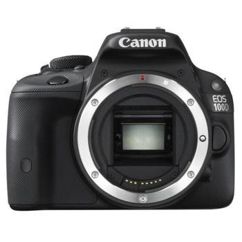 """CANON EOS 100D body, 8576B019AA, digitální fotoaparát, 18 Mpx, pro SD/SDHC/SDXC, LiON, přehrávač filmů, 3"""", FullHD Video, HDMI"""