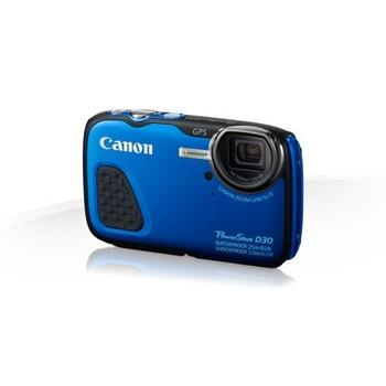 "CANON PowerShot D30, 9337B011AA, modrý (blue), digitální fotoaparát, 12Mpx, optický zoom 5x, dig. zoom 4x, optický stabilizátor, pro SD/SDHC/SDXC, LiON, GPS, 3"", miniHDMI"