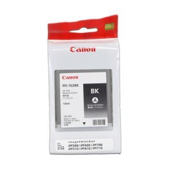 CANON PFI-102, CF0895B001AA, černý (black), inkoustová náplň pro iPF-500, 600, 700